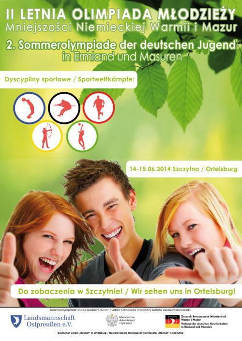2. Sommerolympiade der deutschen Jugend in Ermland und Masuren – 14.-15.06.2014 Ortelsburg