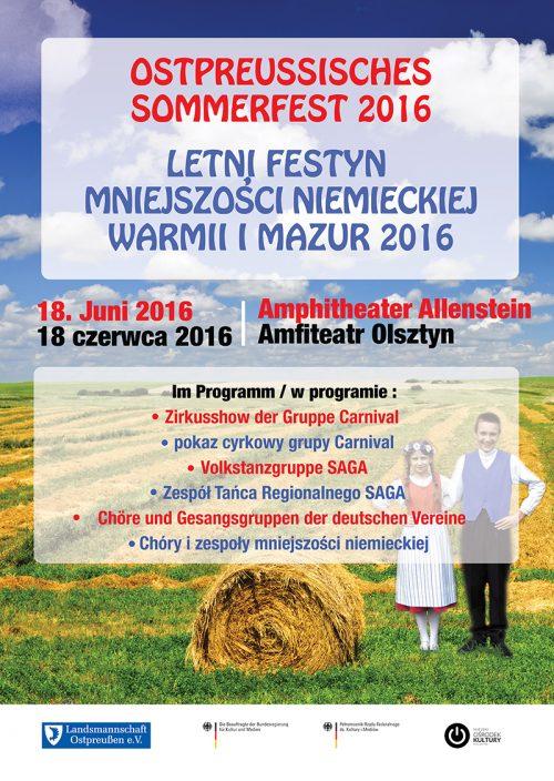 Letni Festyn Mniejszości Niemieckiej Warmii i Mazur 2016