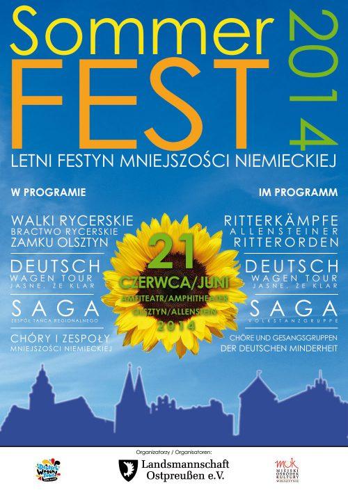 Letni Festyn Mniejszości Niemieckiej Warmii i Mazur 2014